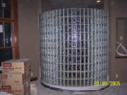 Curved glass block wall done by Kevin Holler, Holler Glass Block Company Minneapolis St Paul, installation of glass block, weck block, mullia block, pittsburgh coning block, solaris block,  .JPG